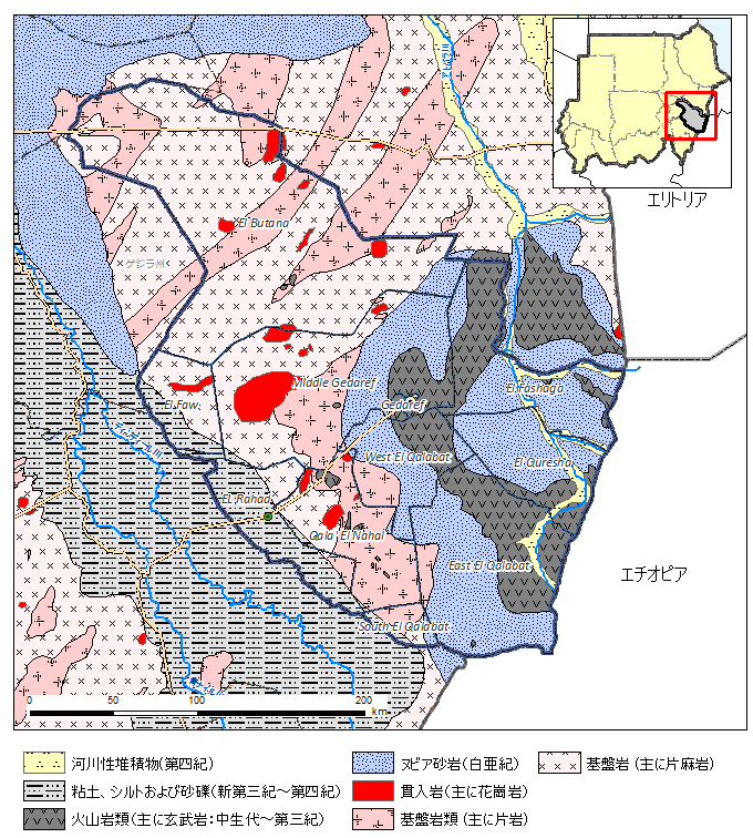 図2.ゲダレフ州の地質