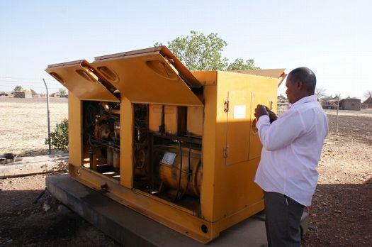 写真6.各井戸の予備用発電機